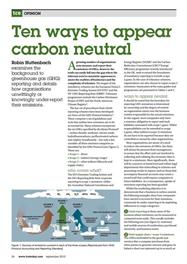10 ways to appear carbon neutral