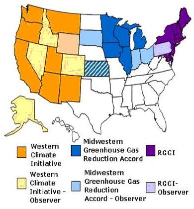 US Regional GHG Initiatives